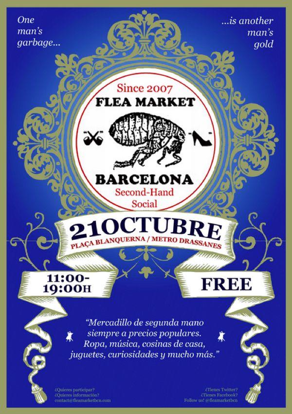 Venta e intercambio de ropa de segunda mano en el Flea Market
