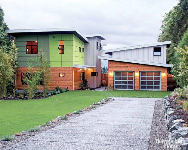 Pre fab garage with studio. Architect Heather Johnston, Seattle