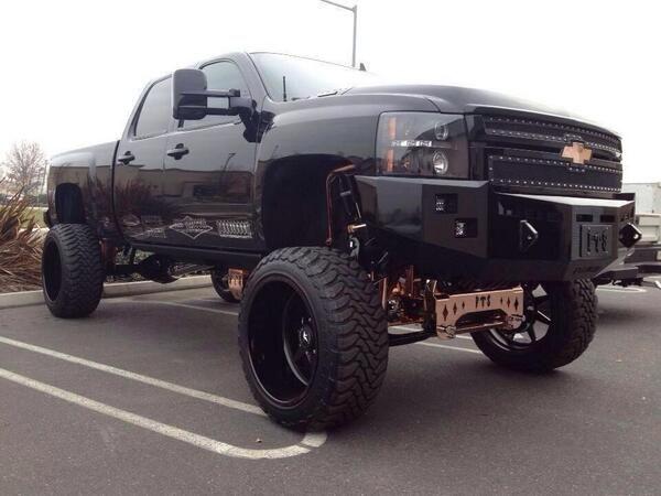 Big Black Lifted Chevrolet Truck | Chevrolet Lifted Trucks ...