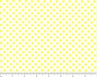 White with Small Yellow Dots Lots-a-Dots Polka Dot Fabric by Choice Fabrics - 1 yard