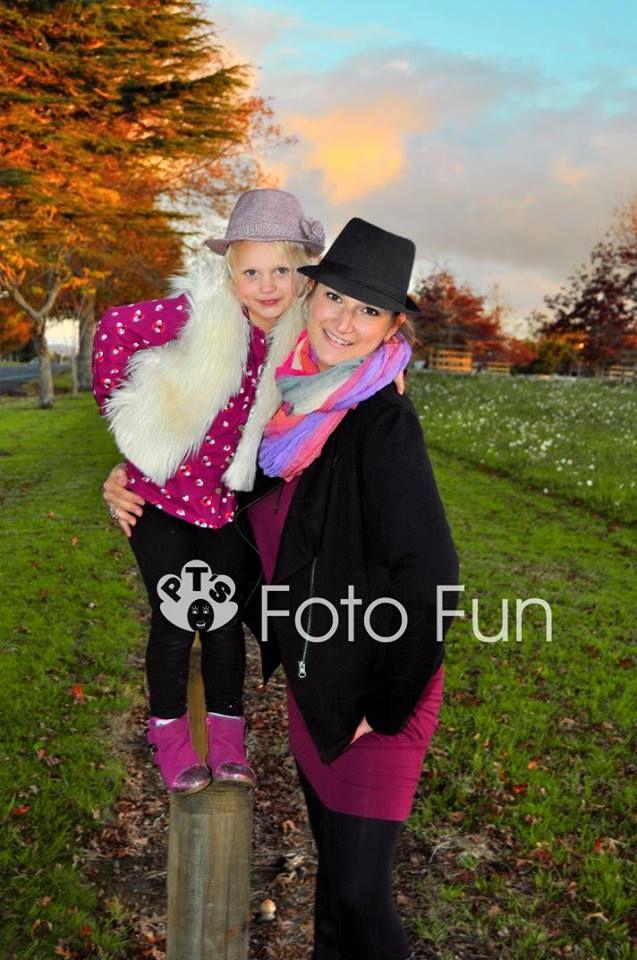 Mum and daughter in Autumn, Cambridge, nz