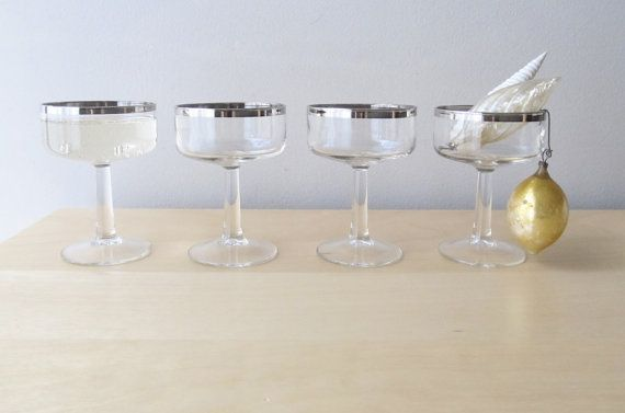 Vintage champagne glasses at table settings. From Iones Attic. @Style Me Pretty @Ann Taylor