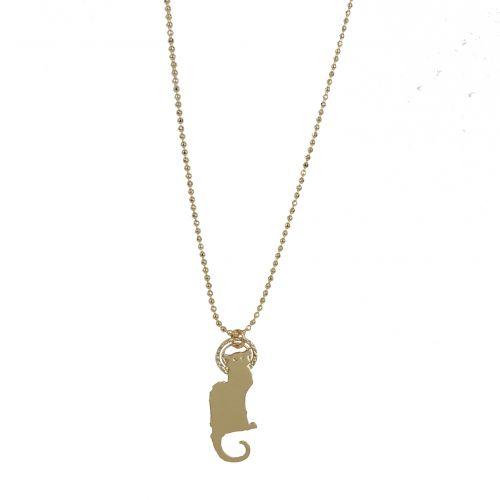 Le #collier en #or représentant le #Chat #Noir - Prix 29,50 euros TTC - En stock #Salis #Steinlen #Montmartre #ChatNoir #affiche #cabaret