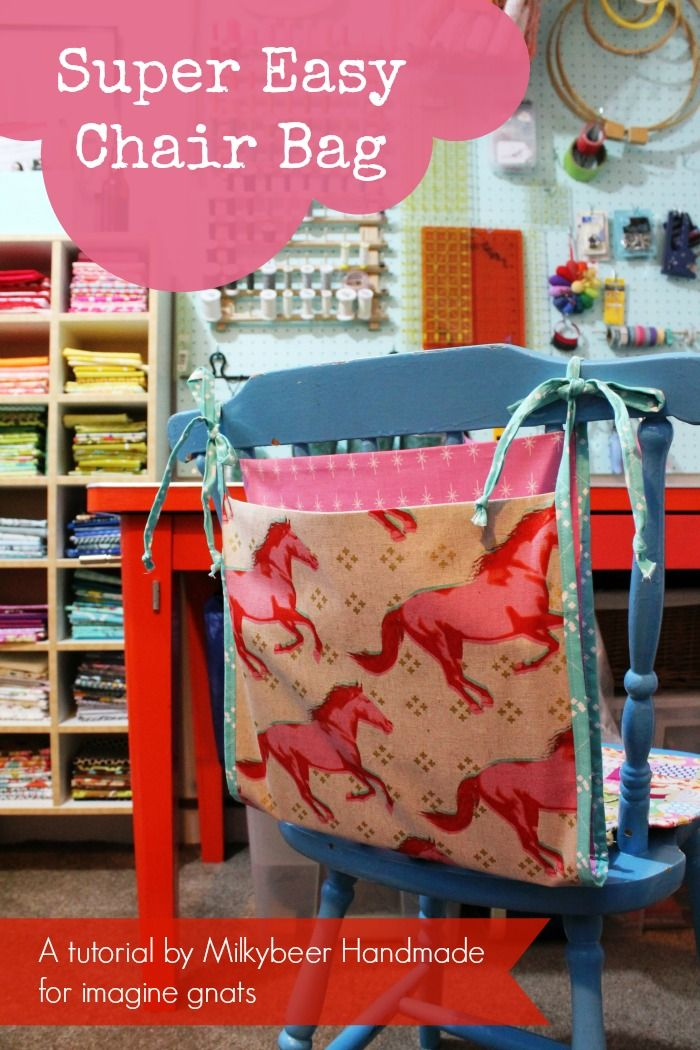sew: super easy chair bag tutorial || imagine gnats