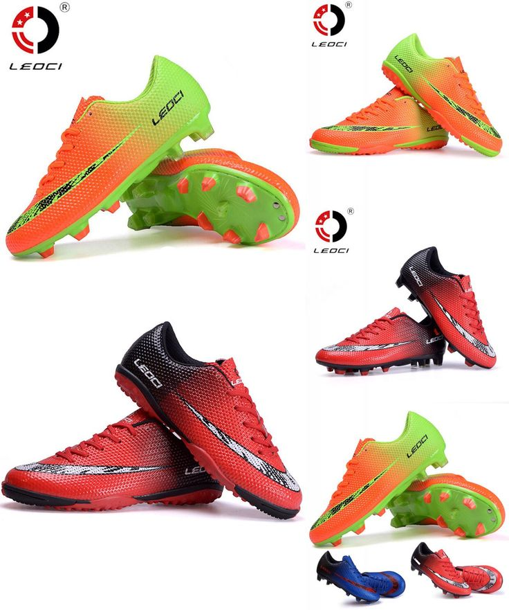 [Visit to Buy] Leoci Men Football Boots Outdoor FG Soccer Shoes Chuteiras De Futebol High Quality Trainers Sneakers for  KIDS Voetbalschoenen #Advertisement
