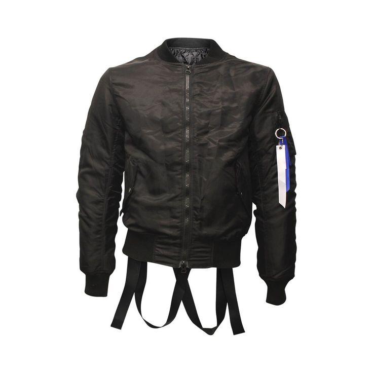 Black Strapped Bomber Jacket (Unisex) // Streetwear fashion // Zargara // www.babesngents.com