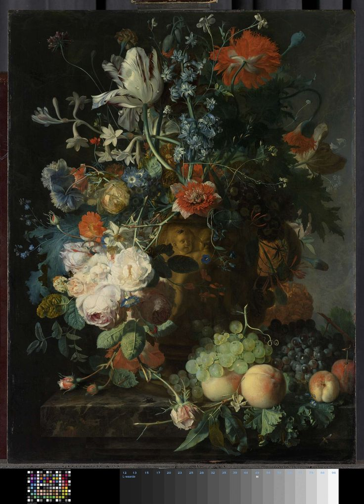 Stilleven met bloemen en vruchten, Jan van Huysum, 1721