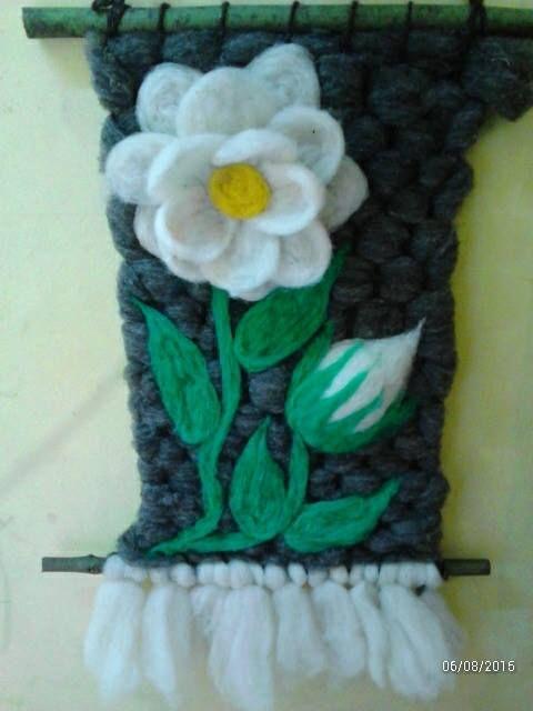Tejido en telar decoraritvo, 100% vellon natural…