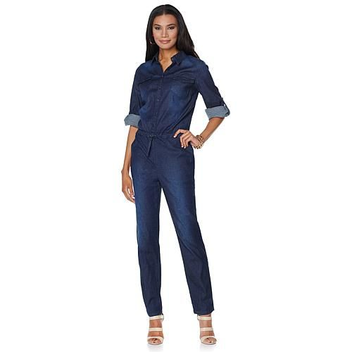 Wendy Williams Denim Jumpsuit - Black Denim