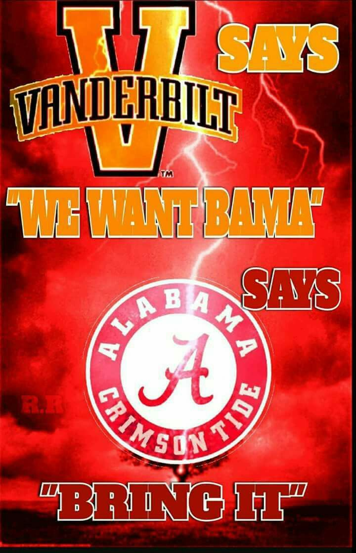 ALABAMA Football vs Vanderbilt