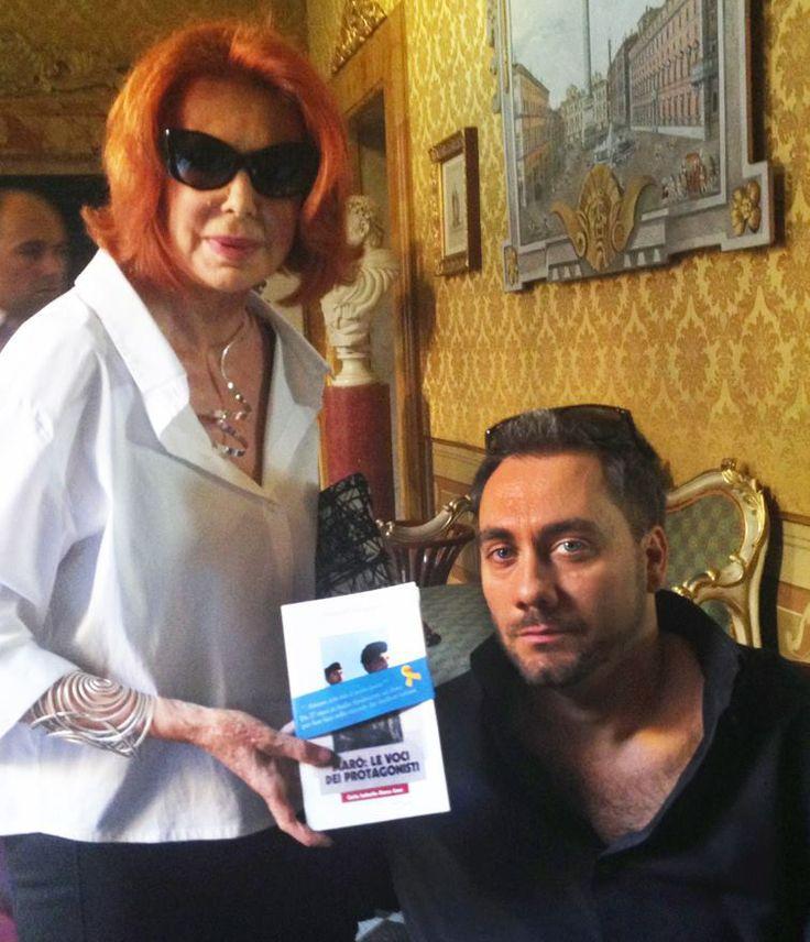 Fabrizio Bartoccioni with Marina Ripa di Meana