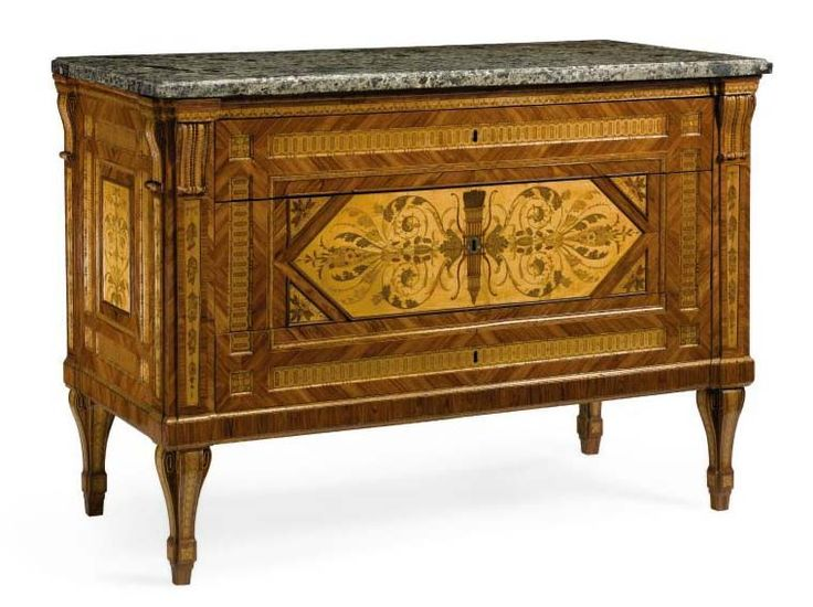 GIUSEPPE MAGGIOLINI (Parabiago, Italy, 1738-1814): Pair of North Italian walnut and fruitwood marquetry commodes. Lombardy, later 18th century. Sold in N.Y. for $ 408.000 (Sotheby's, 4/11/2005, n. 286).