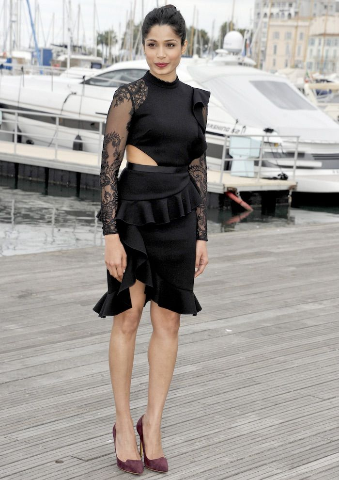 Freida Pinto at MIPCOM 2016 on October 17, 2016 for the 'Guerilla' photo call in Cannes France