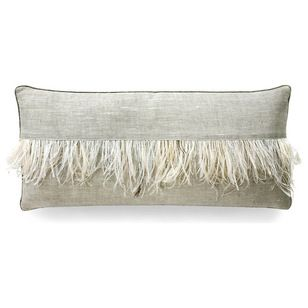 Ostrich feather trim. Transitional Decorative Pillows by Bliss Home & Design