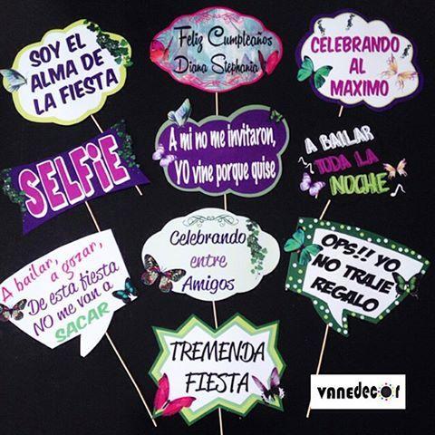 Props para unos 15 años, tematicos #props#propsphotobooth#mariposas#photobooth#mariposasparty#15años#15primaveras#party#evento#fiesta#vanedecor#valencia#Venezuela