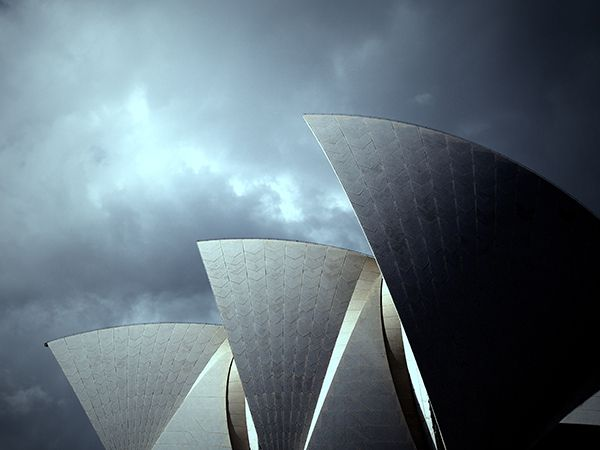 Picture of the top of the Sydney Opera House, Australia