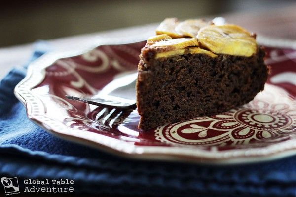 Yummy cake using plantain, can substitute with bananas