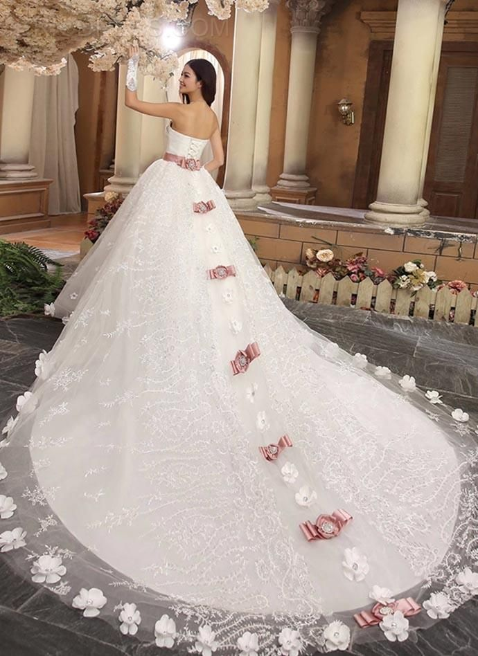 Gorgeous Ball Gown Sweetheart Beading Cathedral Wedding Dress Wedding Dresses 2014- ericdress.com 10979053