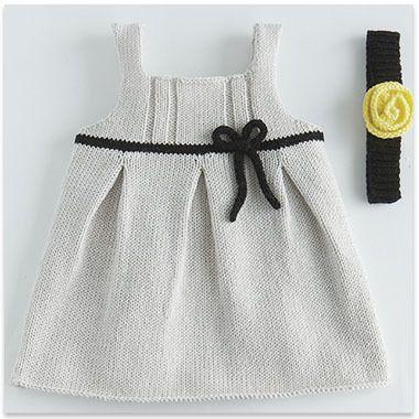 Modèle gratuit robe à noeud layette
