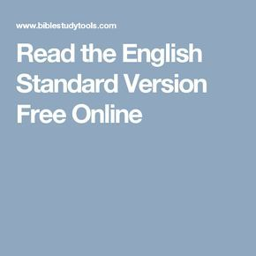 Read the English Standard Version Free Online