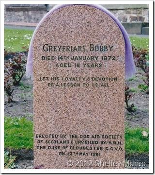 Greyfriars Bobby - headstone - Edinburgh, Scotland