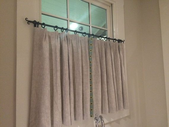 Cafe Curtain Rod, Cafe Iron Rod, Forged Iron Cafe Curtain Rod, Kitchen Privacy Drapery Rod, Iron Drapery Rod, Privacy Bathroom Rod,