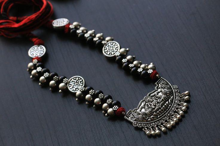Lakshmi Motif Temple necklace
