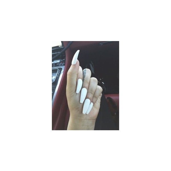 Long White Nails ❤ liked on Polyvore featuring beauty products, nail care, nail treatments and nails