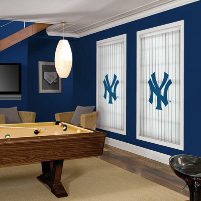 New York Yankees Roller Shades At Blinds Chalet