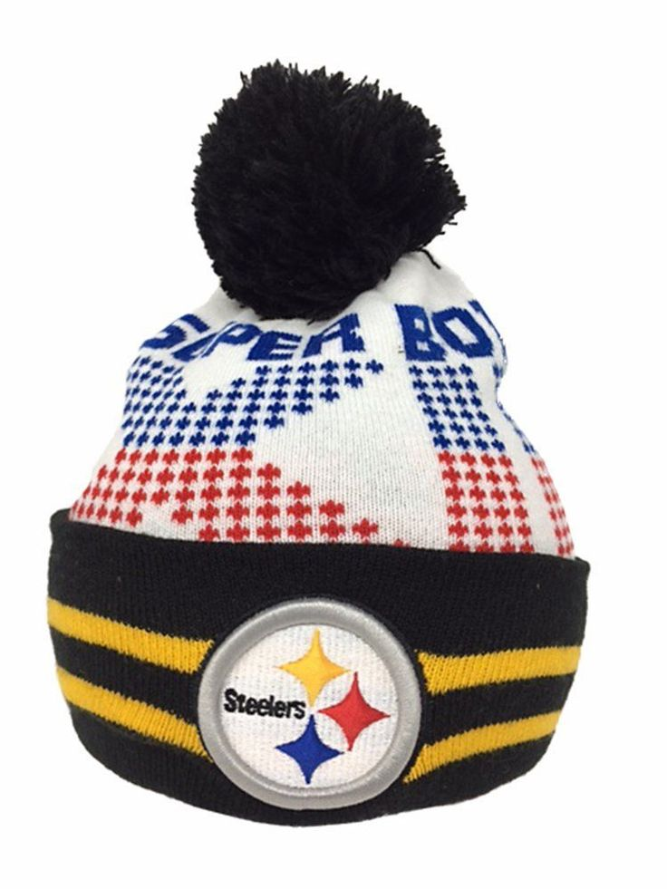 NFL Super Bowl Knit Hat Pittsburgh Steelers Super Bowl XIII Top Quality Acrylic #Purchadise #PittsburghSteelers
