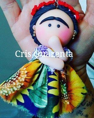 Chaveiro Frida Kahlo #fridakahlo #mulher #euamochaveiros