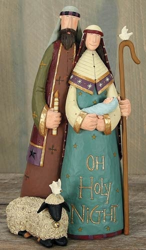 O'Holy Family Nativity Figurine – Christmas Folk Art & Holiday Collectibles – Williraye Studio $44.50
