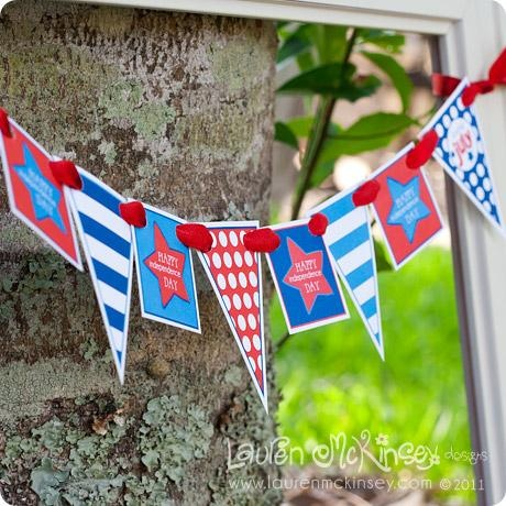 Cute 4th of July party printables