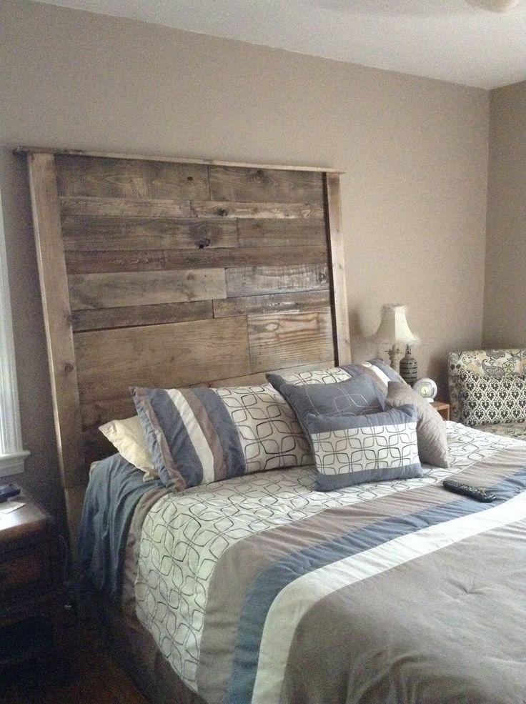#Bedroom, #PalletHeadboard, #ReclaimedPallet, #Rustic