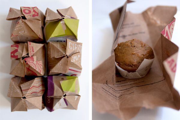 packaging for muffins created as a part of a presentation