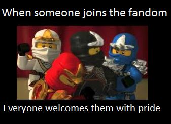 Ninjago meme: New fans by Theninjasibs.deviantart.com on @DeviantArt