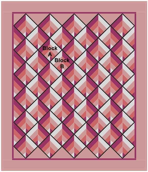 Strip Twist on Point | blue feather quilt studio