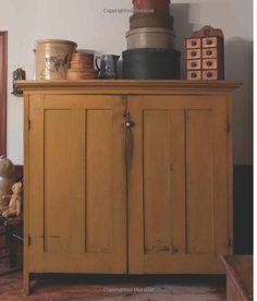 Primitive Mustard Cupboard. Country FurniturePrimitive ...