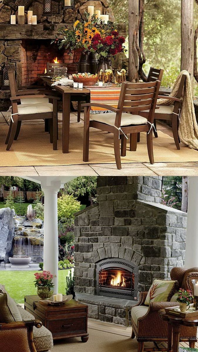 Amazing Outdoor Fireplace Designs Part 2 - Style Estate - #outdoorLiving