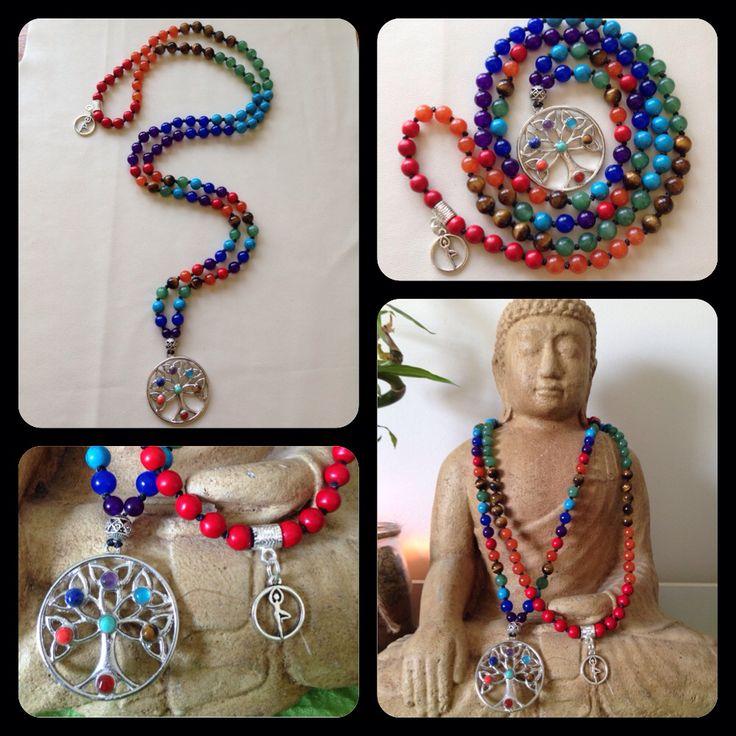 Tree of Life 108 bead Chakra Mala https://www.facebook.com/JediJewellery