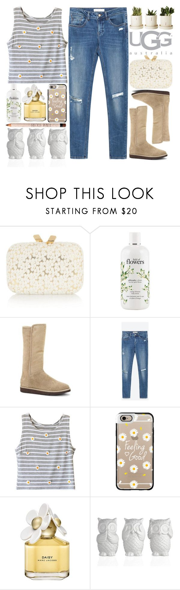 """The Way: Contest Entry"" by puppies241 ❤ liked on Polyvore featuring KOTUR, UGG Australia, philosophy, Zara, Casetify, Marc Jacobs, floral, autumn and uggaustralia"