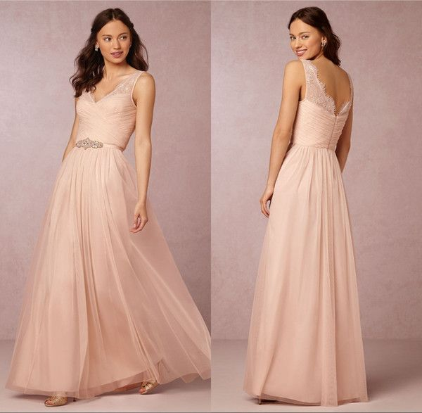 Rullfe Chiffon Bohemian Bridesmaids Dresses Sparkly Beaded Sash Fancy Pleat Floor-Length Bridesmaid Dress Under 100$ Vestido De Festa