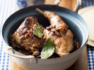 Konijn op grootmoeders wijze recipe eten - Deco voorgerecht ...