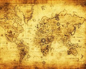 old world globe pictures | ... of an Old Nautical Map of the World Picture Poster Art Naval Globe