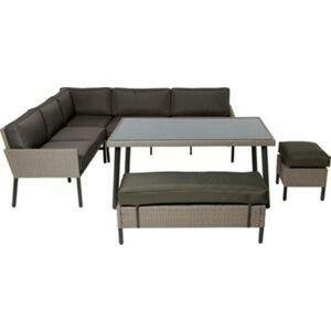 Homebase Palermo dining set | Corner sofa set, Rattan ...