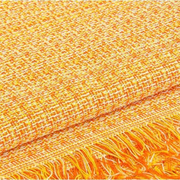 Colcha y Funda Foulard Rústica Sofá color Naranja, funda para cubrir sofás de 1 plaza, 2 plazas y 3 plazas.
