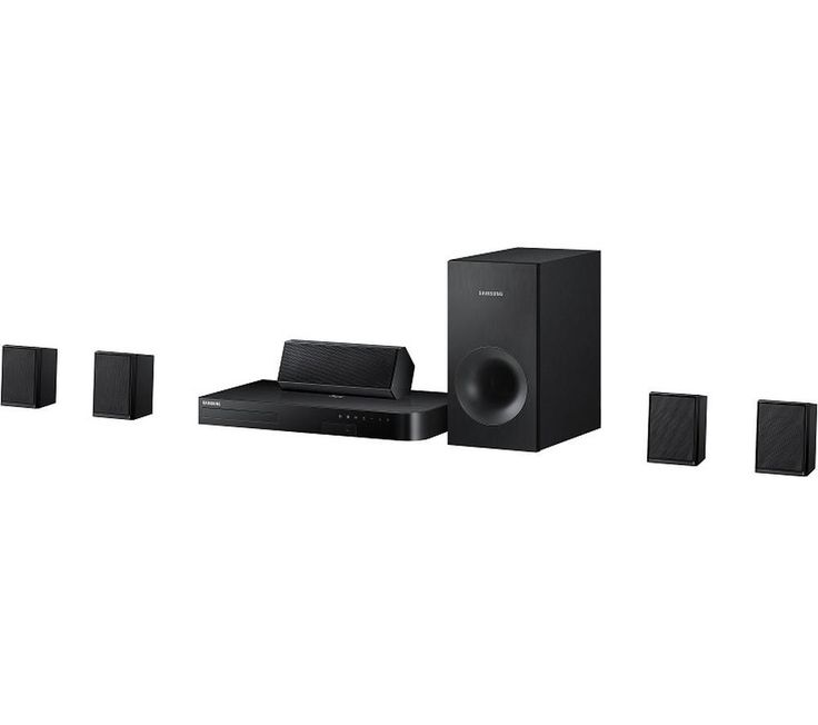 SAMSUNG  HT-J4500 5.1 Smart 3D Blu-ray & DVD Home Cinema System Price: £ 169.00 Get the best out of your favourite Blu-ray, DVDs and catch up services with the Samsung HT-J4500 5.1 Smart 3D Blu-ray and DVD Home Cinema System. Surround sound Complete with four satellite speakers, a dedicated centre speaker and powerful wired subwoofer, the HT-J4500 delivers immersive surround sound in your...