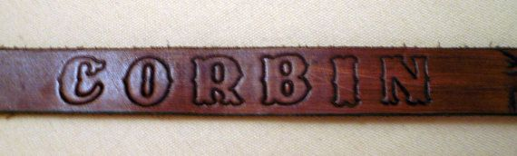 Vintage Tooled Leather BELT Personalized with by Tasteliberty, $24.00