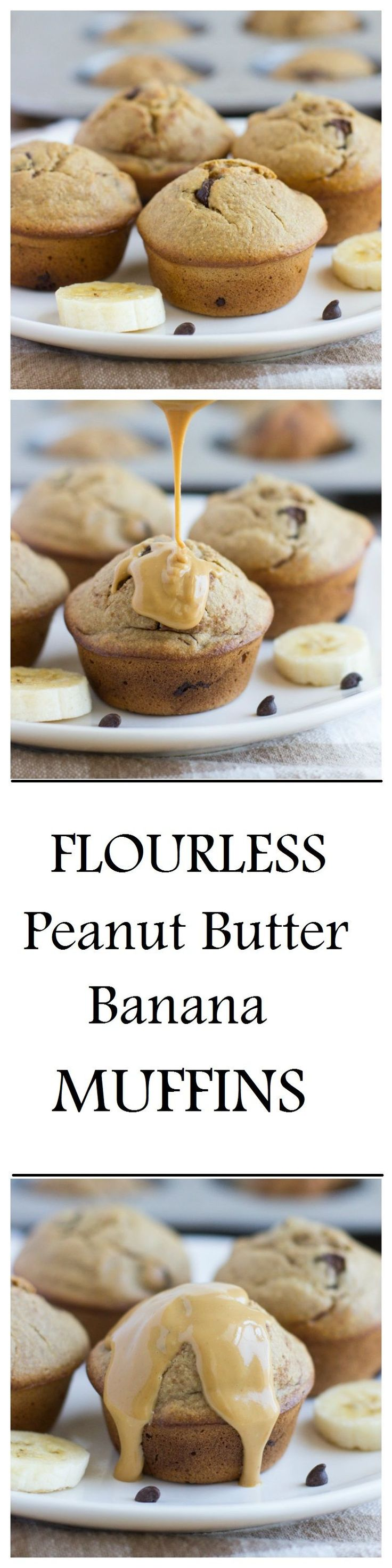 Flourless peanut butter banana muffins that are made without dairy, gluten, oil or refined sugar. One muffin has as much protein as an egg! So moist and delicious, you would never guess that they're healthy! THESE MUFFINS. Where do I even start? They're basically a dream come true. They have the BEST texture and the …