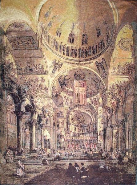 Inside san marco tapestry wall hanging